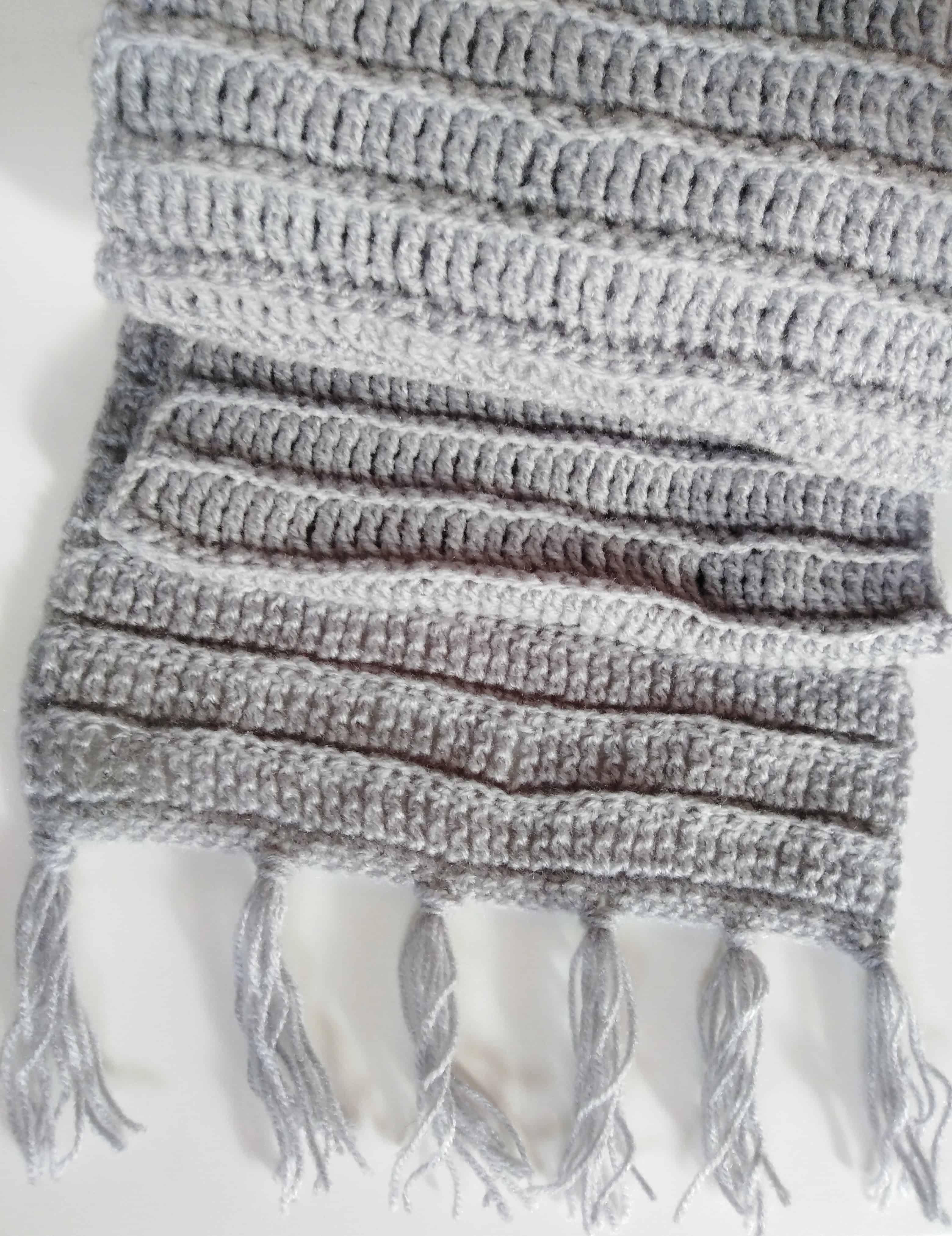 Comment Faire Une écharpe Pour Homme En Crochet Facile Et