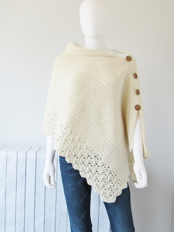 Poncho Au Crochet Pour Femme Modèle Gratuit Mery Crochet